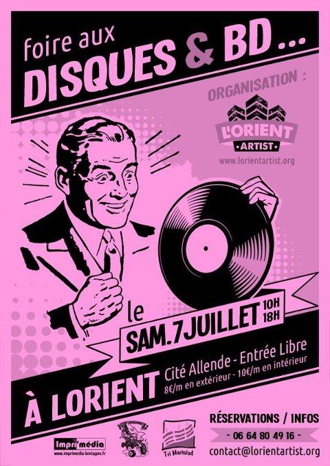 Foire aux Disques & BDs L'Orient'Artist samedi 7 juillet 2012 Lorient